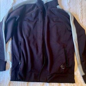 Dark Purple Patagonia fleece zip up coat -XL